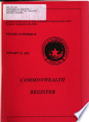 Commonwealth Register
