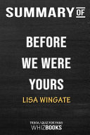 Summary of Before We Were Yours  A Novel  Trivia Quiz for Fans