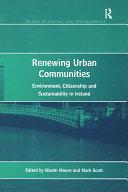 Renewing Urban Communities