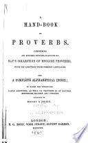 A Hand Book Of Proverbs