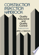 Construction Inspection Handbook Book