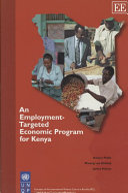 An Employment targeted Economic Program for Kenya Book