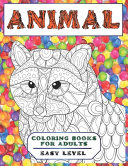 Animal Coloring Books for Adults Easy Level