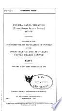 Panama Canal Treaties  United States Senate Debate   1977 78  January 12  1977 thru February 24  1978 Book PDF