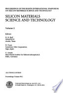 Silicon Materials Science and Technology