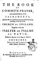 The Book of Common Prayer ... English and Low-dutch. Third Edition. (Het Boek Der Gemeene Gebeden, Etc.).