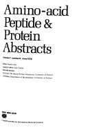 Amino-acid, Peptide & Protein Abstracts