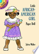 Little African American Girl Paper Doll