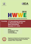 Humanizing work and work Environment  HWWE 2016