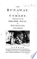 The Runaway  A Comedy     A New Edition   By Hannah Cowley   Book
