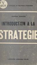 Pdf Introduction à la stratégie Telecharger