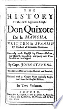 The History of the Most Ingenious Knight Don Quixote de la Mancha 1