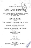 An Analytical Digest Of The Law And Practice Of The Courts Of Common Law
