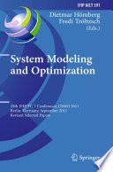 System Modeling and Optimization Book