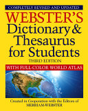 Webster s Dictionary   Thesaurus with Full Color World Atlas  Third Edition
