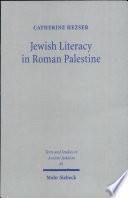 Jewish Literacy in Roman Palestine Book