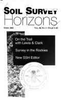 Soil Survey Horizons Book