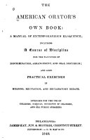 The American Orator's Own Book