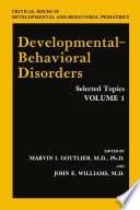 Developmental Behavioral Disorders Book