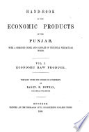 Hand book of the Economic Products of the Punjab