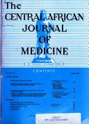 Central African Journal of Medicine Book PDF