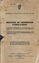 Register of Prohibited Publications