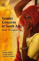 Gender Concerns in South Asia Book
