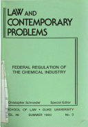 Federal Regulation Of The Chemical Industry