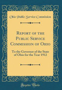 Report of the Public Service Commission of Ohio