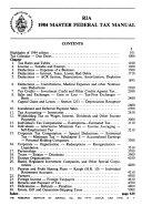 Master Federal Tax Manual