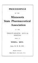 Proceedings Of The Minnesota State Pharmaceutical Association