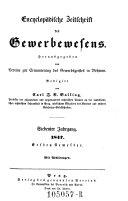 Jahrbuch für Fabrikanten und Gewerbetreibende, Physiker, Chemiker, Techniker (etc.)