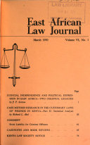 East African Law Journal