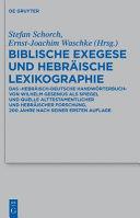 Biblische Exegese und Hebr  ische Lexikographie
