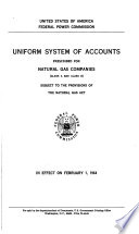 Uniform System of Accounts Prescribed for Natural Gas Companies (class A and Class B)
