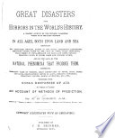 Great Disasters and Horrors in the World s History