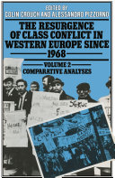 Resurgence of Class Conflict in Western Europe Since 1968