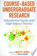 Course Based Undergraduate Research