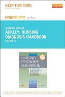 Nursing Diagnosis Handbook Pageburst on Kno Retail Access Code