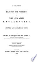 Collection Of Examples And Problems In Pure And Mixed Mathematics