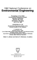 Proceedings Of The Asce Environmental Engineering Division Specialty Conference Book PDF