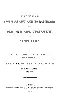A Critical Commentary and Paraphrase of the Old and New Testament and the Apocrypha