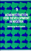 Pdf Administration for Development in Nigeria Telecharger