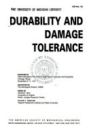 Durability and Damage Tolerance