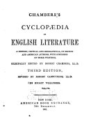 Chambers s Cyclop  dia of English Literature