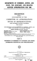 Departments of Commerce  Justice  and State  the Judiciary  and Related Agencies Appropriations for 1996