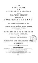 The poll book of the contested election for the northern division of the county of Northumberland     1852