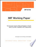 The Economic Impact of Natural Disasters in Pacific Island Countries  Adaptation and Preparedness Book