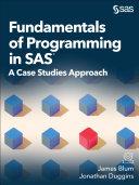 Pdf Fundamentals of Programming in SAS Telecharger