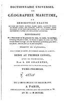 Dictionaire universel de géographie maritime, 2